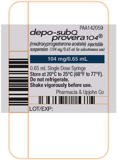 Principal Display Panel - 104 mg Syringe Label